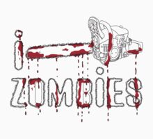 I LOVE ZOMBIES T-shirt by ethnographics