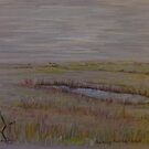 Norfolk Marshes, Blakeney by Linda Ridpath