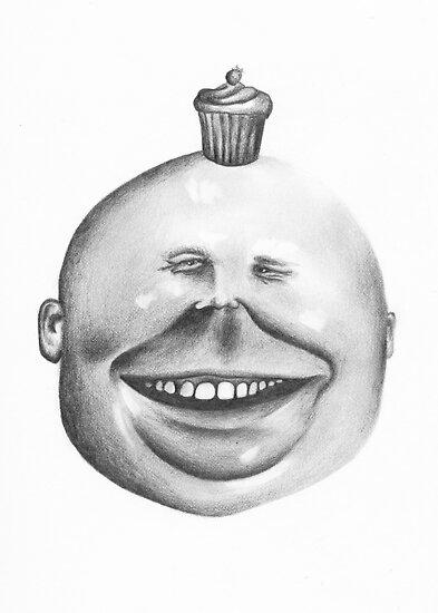 cupcake head by KingVitaman