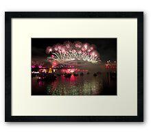 NYE 2013 FIREWORKS   SYDNEY HARBOUR BRIDGE Framed Print