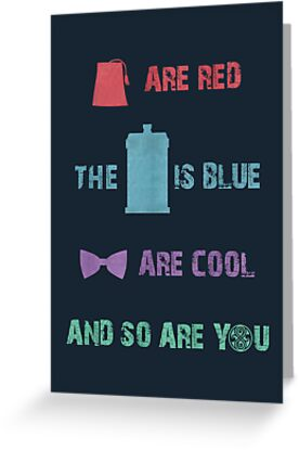 Buy animated e greeting cards - Doctor Who T-Shirt - Colour Greeting Cards & Postcards