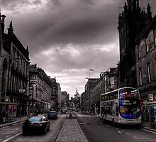 Edinburgh Old Town Street scene by Paul  Gibb