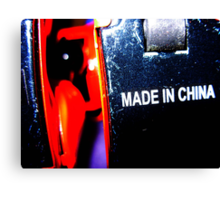 robot made in china Canvas Print
