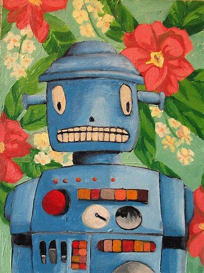 Robot flowers by KingVitaman