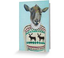 sheep sweater Greeting Card