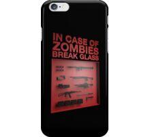 In Case of Zombies Break Glass iPhone Case/Skin