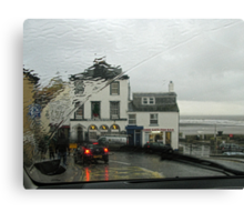 Lyme Through The Windscreen   Dorset UK Canvas Print