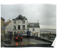 Lyme Through The Windscreen   Dorset UK Poster