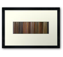 Moviebarcode: The Complete Wes Anderson (1994-2012) Framed Print