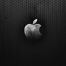 Apple logo black background by G3no