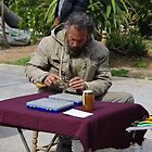 Street Market 6-Tying Flies by Francis Drake