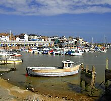 Bridlington Harbour Scene by Rod Johnson