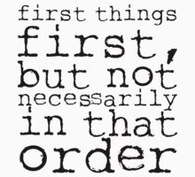 First Things First | Doctor Who by Michael Audet