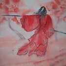 Chinese Ink III - Warrior Woman  by Nicla Rossini