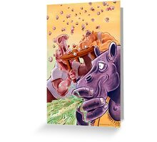 Feed the Hippos Greeting Card