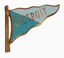 Vintage Detroit Flag Souvenir by The Detroit Room