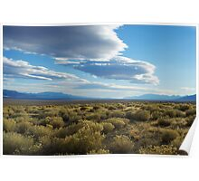 Wide open high desert and mountains, Nevada Poster