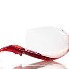 Red wine glass falling by tpfeller
