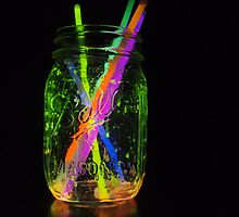 Rainbow Glow Jar by unicorngirl