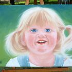 Portrait of Pigtail Girl by Karen Sagovac