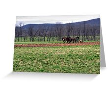 Tilling The Rich Earth Greeting Card