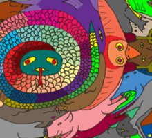 Rainbow Serpent Sticker
