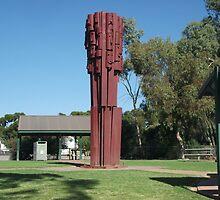 Broken Hill Pro Hart sculpture  by Heather Dart