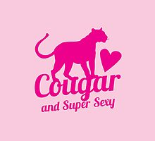 Cougar cat and Super Sexy! with love heart by jazzydevil