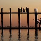 U bein bridge  by Peter Voerman
