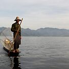 Fisherman on lake Inle (Burma/ Myanmar)  by Peter Voerman