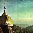 Golden rock Burma/ Myanmar  by Peter Voerman