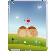 Cute Bird Couple Full of Love Heart iPad Case/Skin