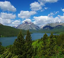 Lower Two Medicine Lake, Montana by Claudio Del Luongo