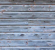 Old barn wall by Kristian Tuhkanen