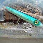 AJS Green Serpent Flaptail Saltwater Lure by MotherNature