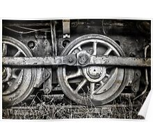 Vintage Train Wheels Poster