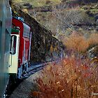 Country Train Ride by Gretchen Mayberry