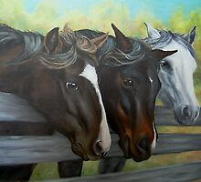 Three Gentle Brown Eyes by Pam Humbargar
