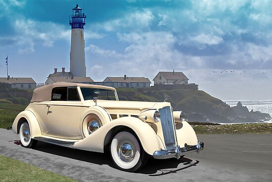 1935 Packard, Victoria Convertible Coupe by DaveKoontz