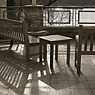 Gray Day on the Patio by Monnie Ryan