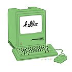 Green 1984 Macintosh by nealcampbell