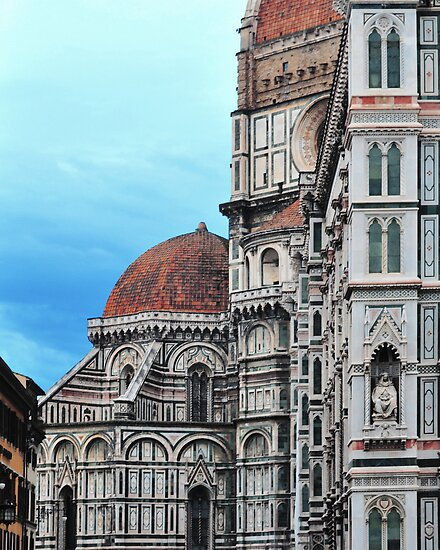 Baptistry and Cathedral Florence, Italy by Thomas Barker-Detwiler