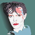 """Scary Monsters"" Bowie Green Design by Bowieisgod"