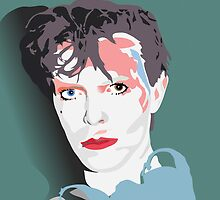 """""""Scary Monsters"""" Bowie Green Design by Bowieisgod"""