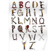Zombie Alphabet Poster