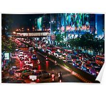 the Busy Bangkok Night Poster