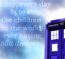 TARDIS on a Cloud Sticker