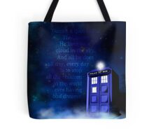 TARDIS on a Cloud Tote Bag
