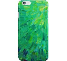 SEA SCALES in GREEN - Bright Green Ocean Waves Beach Mermaid Fins Scales Abstract Acrylic Painting iPhone Case/Skin