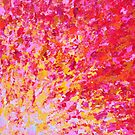 ROMANTIC DAYS - Lovely Sweet Romance, Valentine's Day Sweetheart Pink Red Abstract Acrylic Painting by EbiEmporium